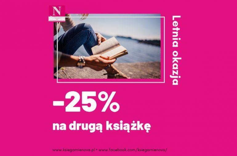 Złap letniąokazję: 25% rabatu na drugą książkę!